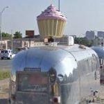 Cupcake on an Airstream trailer (StreetView)