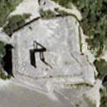 Giant chair on the roof of a WWII bunker (Google Maps)