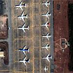 Airplanes on ramp in Thailand (Google Maps)