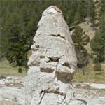 Mammoth Hot Springs - Liberty Cap (StreetView)