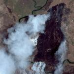 Fire in Mozambique (Google Maps)