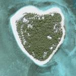 Heart shaped island (Google Maps)