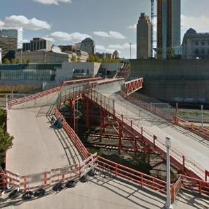 Football Themed Pedestrian Bridge (StreetView)