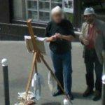 Artist at work (StreetView)