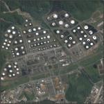 Industrias em Cubatão (Google Maps)