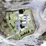 Quarry with hidden satellite dishes (Google Maps)