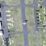 Airplane taking off from Lincoln Park airport (Google Maps)