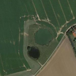 Messines Ridge WWI - Craters for 21 mines (Google Maps)