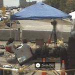 The media covering the I-35W bridge collapse (StreetView)