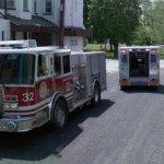 Ambulance and fire truck on the scene (StreetView)