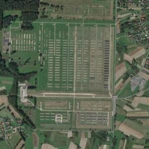 Former Nazi German Concentration Camp of Auschwitz-Birkenau (Google Maps)