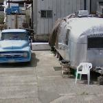 F-100 Ford pickup truck & Airstream trailer (StreetView)