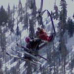Skiers on a Chair Lift (StreetView)