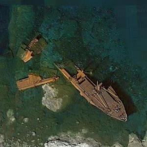 Shipwreck of the Semiramis (Google Maps)