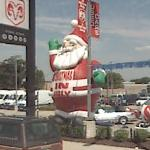 'Christmas in July' Inflatible Santa Claus