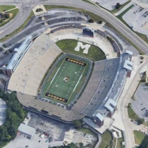 Faurot Field at the University of Missouri (Google Maps)