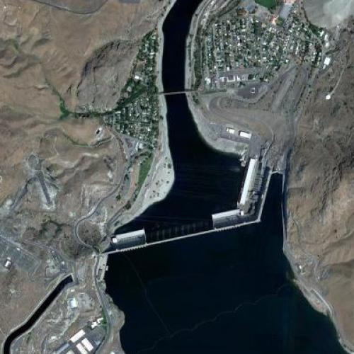 Grand Coulee Dam (Google Maps)