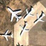 Aircraft in desert storage at Kingman (Google Maps)