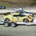 Lotus Race Car on Trailer