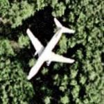 Airliner in flight (Google Maps)