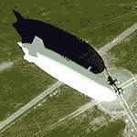 Zeppelin at Friedrichshafen (Google Maps)