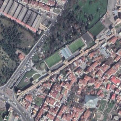 Walls of Constantinople (Google Maps)
