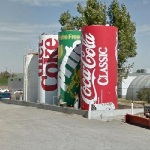 Soda Can Water Tanks (StreetView)