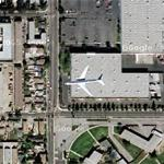 Airplane approaching LAX (Google Maps)