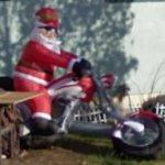 Santa on a motorcycle (StreetView)