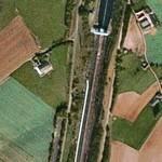 Ronquières inclined plane (Google Maps)