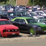 Ford Mustang, Chrysler 300c and Corvette (StreetView)