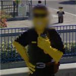 Lego man gets face blurred (StreetView)