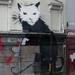 Graffiti by Banksy (StreetView)