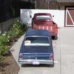 Ford Falcon and old Ford pickup