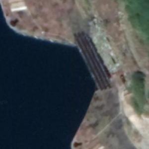 Entrance to Hainan underground submarine base (Google Maps)