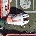 Giant inflatable Miami Hurricane's helmet (Google Maps)