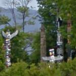 Totem poles at Stanley Park (StreetView)