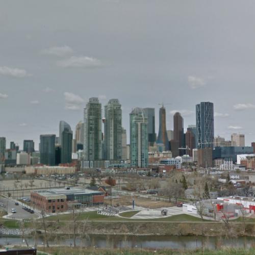 Calgary Skyline (StreetView)