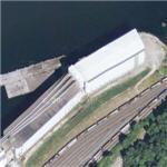 World's Largest Salt Water Port Grain Elevator (Google Maps)