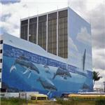 Wyland Whale Mural - 'Hawaiian Humpbacks' (StreetView)