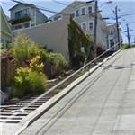 Very steep street