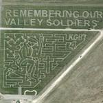 'Remembering Our Valley Soldiers' Corn field maze (Google Maps)