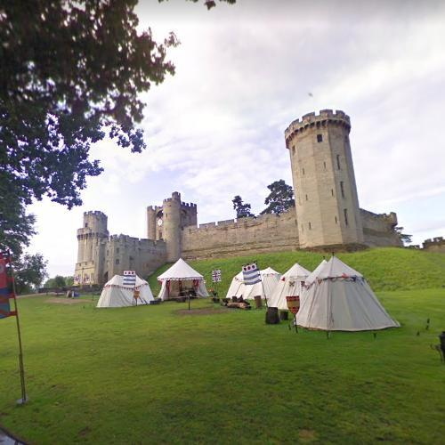Medieval encampment at Warwick Castle (StreetView)