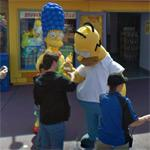 Homer and Marge Simpson (StreetView)