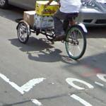 Bicyclists and Hasidic community clash over bike lanes (12/8/09) (StreetView)