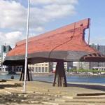Inverted boat-hull used as the Islands Brygge bandstand (StreetView)