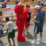 Elmo character (StreetView)