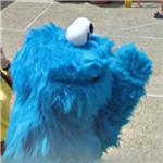 Cookie Monster character (StreetView)
