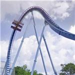 Upside down on the Griffon roller coaster (StreetView)