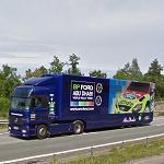 WRC Ford (Mercedes team truck) (StreetView)
